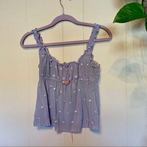 Vintage Victoria's Secret Lavender Babydoll Top